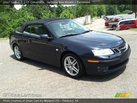 nocturne blue metallic 2007 saab 9 3 2 0t convertible