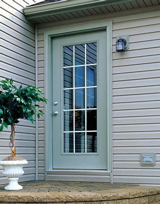 Exterior Back Doors Brennan Exteriors Steel Fiberglass Replacement Entry