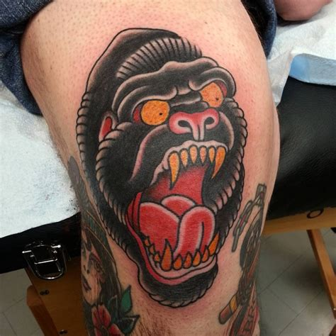 traditional gorilla tattoo 21 wildlife designs ideas design trends