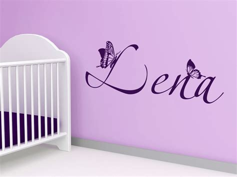Wandtattoo Kinderzimmer Name by Wandtattoo Kindername Mit Schmetterlingen Wandtattoo