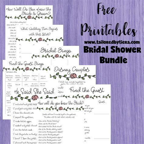 free printable disney bridal shower games charlotte bridal bundle a simple floral themed bridal
