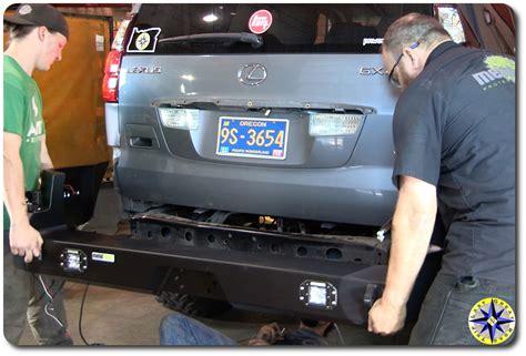 lexus rear bumper installing lexus gx470 swing out bumper overland