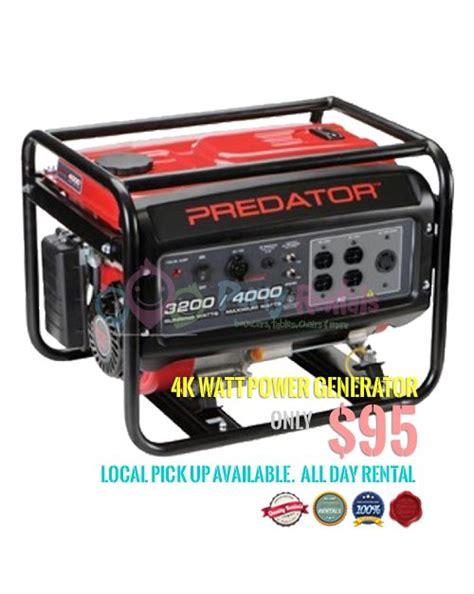 watts and rentals 4k watt portable power generator rental superb price only