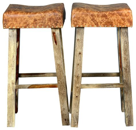 square wood counter stools rustic solid wood leather upholstered 32 quot square