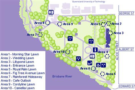 City Botanic Gardens Designated Booking Site Brisbane Brisbane Botanic Gardens Map