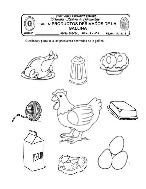 derivados de los animales derivados de la gallina tarea productos derivados de la gallina by katy hormiguita