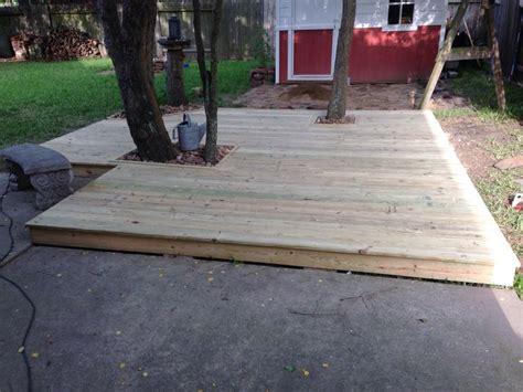 Backyard Decks Pictures Backyard Deck Built Around Trees My Weekend Projects