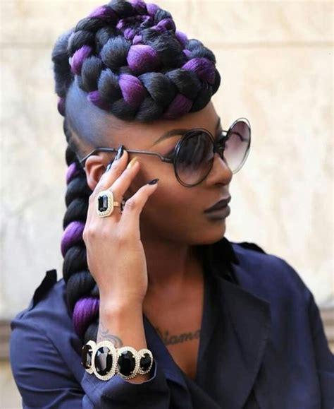 two braids purple goddess purple braids styles 35 gorgeous purple braids hairstyles