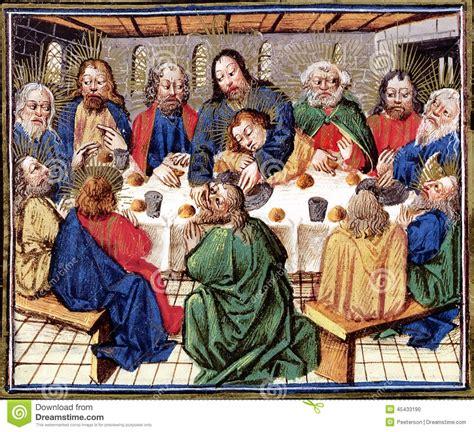 new jesus themes last supper of christ stock illustration image 45433190