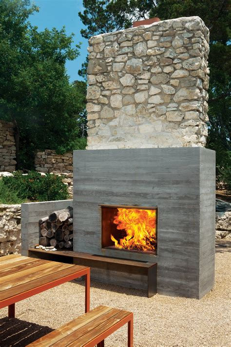 outdoor fireplace modern fireplaces rustic refined studio mm architect