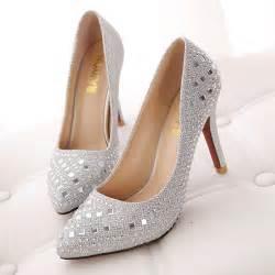 wedding shoes jeweled heels 10cm s wedding stiletto heel with rhinestone shoe onesimplegown