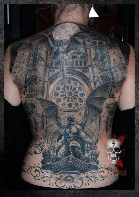 cool idea of gargoyle tattoo on whole back tattooimages biz