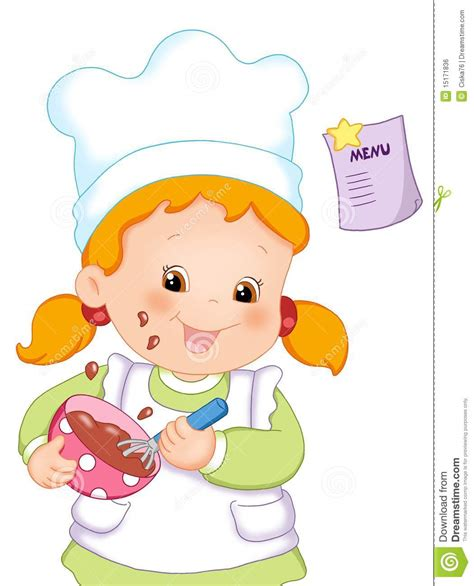 bimbe cucinano cook royalty free stock image image 15171836