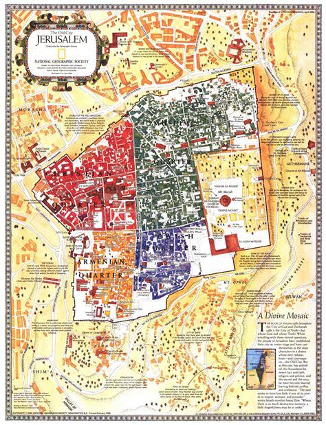 map of city of jerusalem jerusalem the city map 1996 maps