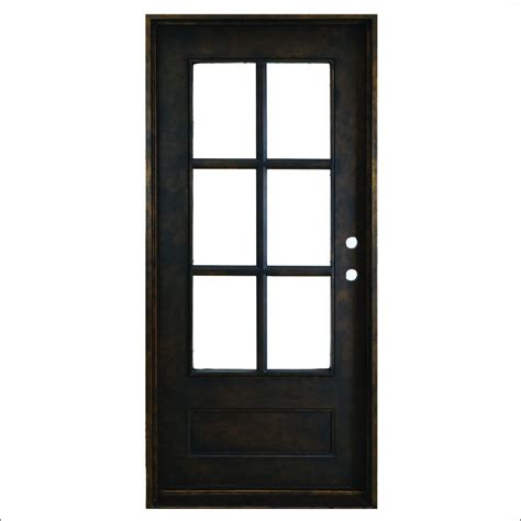 Bronze Door by Steves Sons 37 5 In X 81 In Heritage 6 Lite Antique