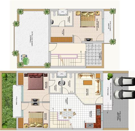 Duplex House Floor Plans Indian Style House Style