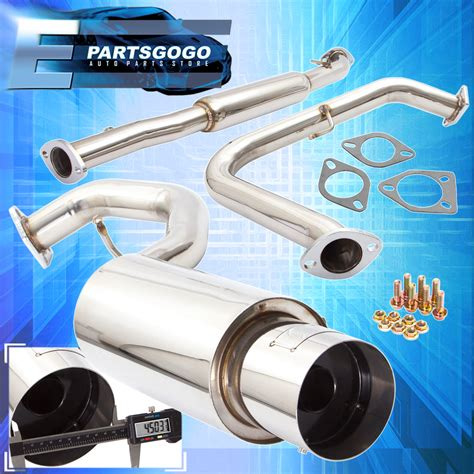 mitsubishi eclipse exhaust system 2000 2005 mitsubishi eclipse 3g gs rs catback exhaust
