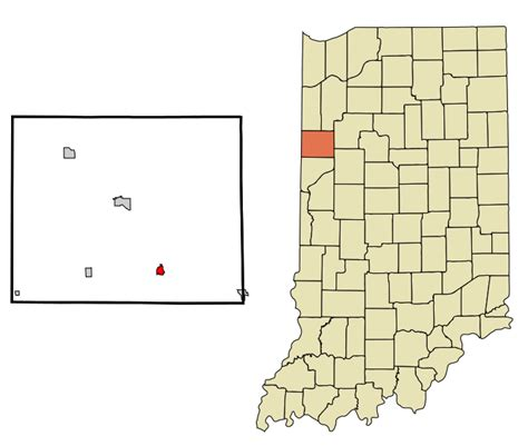 Benton County Search File Benton County Indiana Incorporated And Unincorporated Areas Oxford Highlighted
