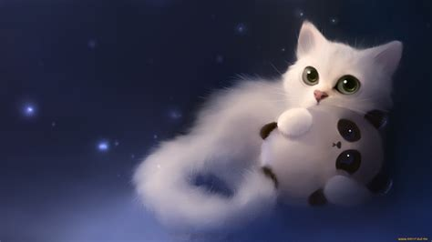 anime kitten hd wallpaper 18636 baltana apofiss deviantart wallpaper