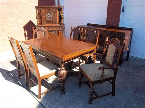 antique oak dining room sets antique vintage 1920 s oak dining room set absolutely stunning carved wood ebay