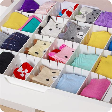 diy drawer organizer nifty 6pcs plastic diy drawer partitions divider free