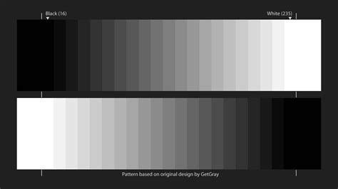 test pattern for tv calibration 2 grayscale steps mp4 youtube