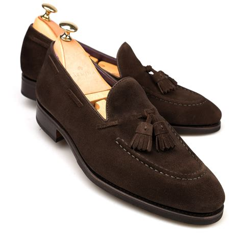 brown tassel loafers brown suede dress loafers carmina shoemaker