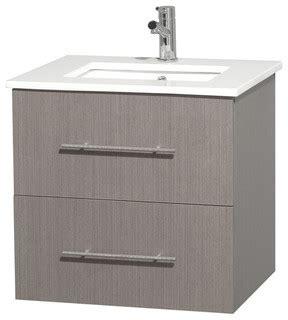 centra 24 quot bathroom vanity no mirror contemporary