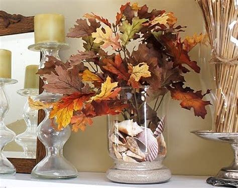 inspired fall leaf decor add fall leaves to your