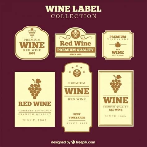 design wine label online free collection of vintage wine labels in flat design vector