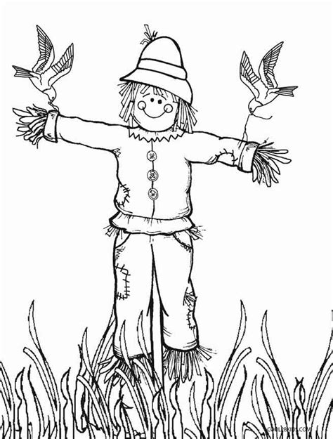 coloring pages scarecrow printable printable scarecrow coloring pages for kids cool2bkids