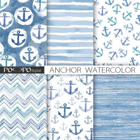 pattern maker us navy anchor digital paper watercolor navy blue boy nautical hand