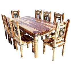 Solid Wood Dining Room Table And Chairs Dallas Classic Solid Wood Rustic Dining Room Table And Chair Set