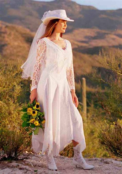 Western Wedding Dresses by Western Wedding Dresses Cowboy Boots With Wedding Dress