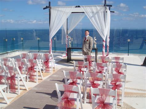 Beach Palace Cancun   rooftop oceanview wedding site