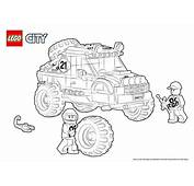 60115 4 X Off Roader  Colouring Page LEGO&174 City