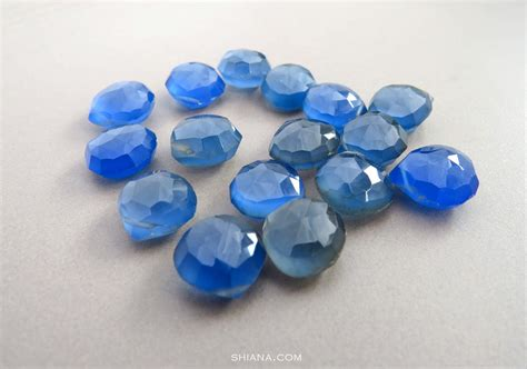 inky blue inky blue chalcedony briolettes 10 11mm 15 pieces 91