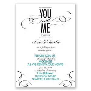 vow template you and me vow renewal invitation invitations by