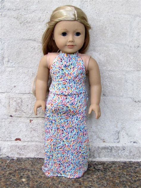 Doll Maxi american doll handmade maxi halter dress american dolls and maxi dresses