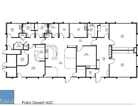 Ambulatory Surgery Center Floor Plans by Palm Desert Asc Saunders Wiant Oc