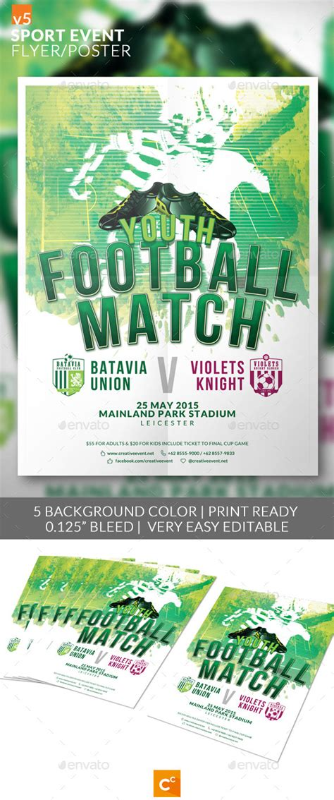 sports event flyer template print template graphicriver sport event flyer poster v5