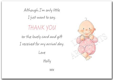 Thank You Cards For New Baby Gifts - personalised new baby gift thank you card notes ebay