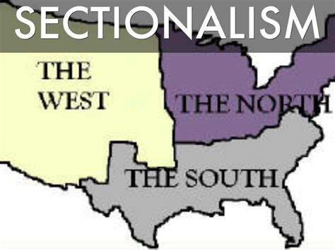 sectionalism and slavery sectionalism thinglink