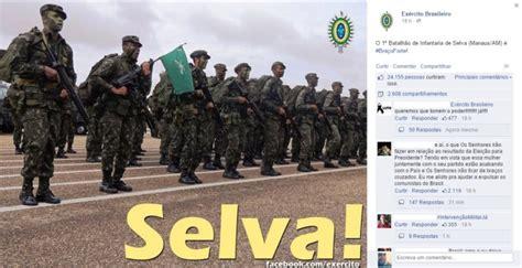Ditadura Militar As Manifesta 231 Internautas Inconformados O Resultado Da Elei 231 227 O Usam A P 225 Do Ex 233 Rcito Para Pedidos De