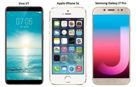 Samsung J7 Vs Vivo V7 Vivo V7 Vs Iphone 5s Vs Samsung Galaxy J7 Pro Price In