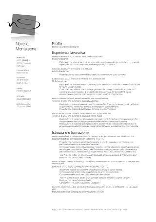 Lettre De Présentation Italien Exemple De Cv En Italien D 233 Corateur D Int 233 Rieur