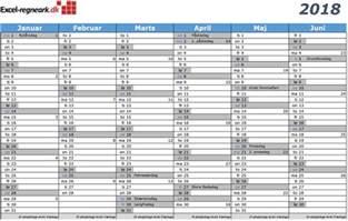 Kalender 201 Mit Feiertagen Kalender Til Excel Med Helligdage Klar Til Print