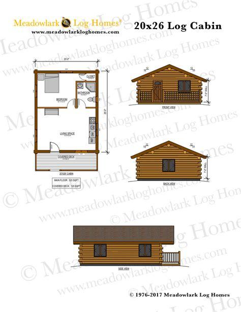 20x26 Log Cabin Meadowlark Log Homes Log Cabin House Plans Level 1