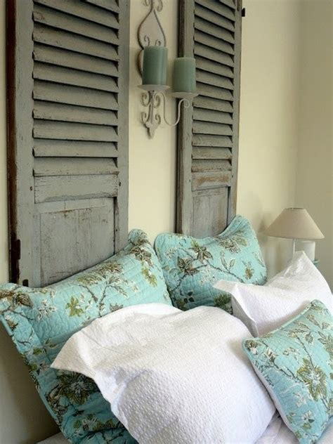 Old Shutters As A Headboard By Annabelle Astonishing