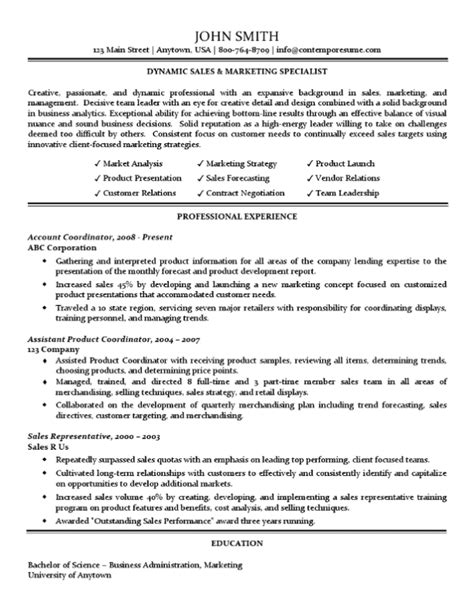 sales marketing resume format 2 sales marketing specialist resume traditional standard format